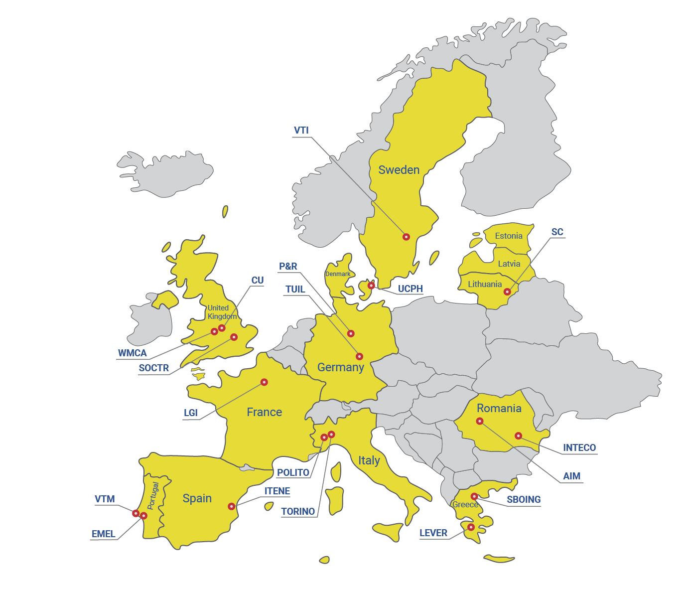 TInnGO Hubs Map