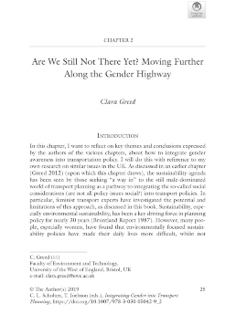 Integrating gender into transport