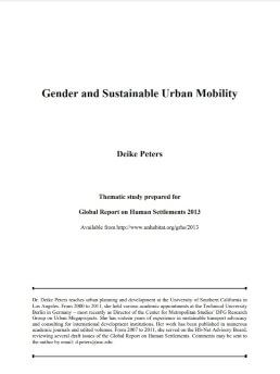 Gender and Sustainable Urban Mobility