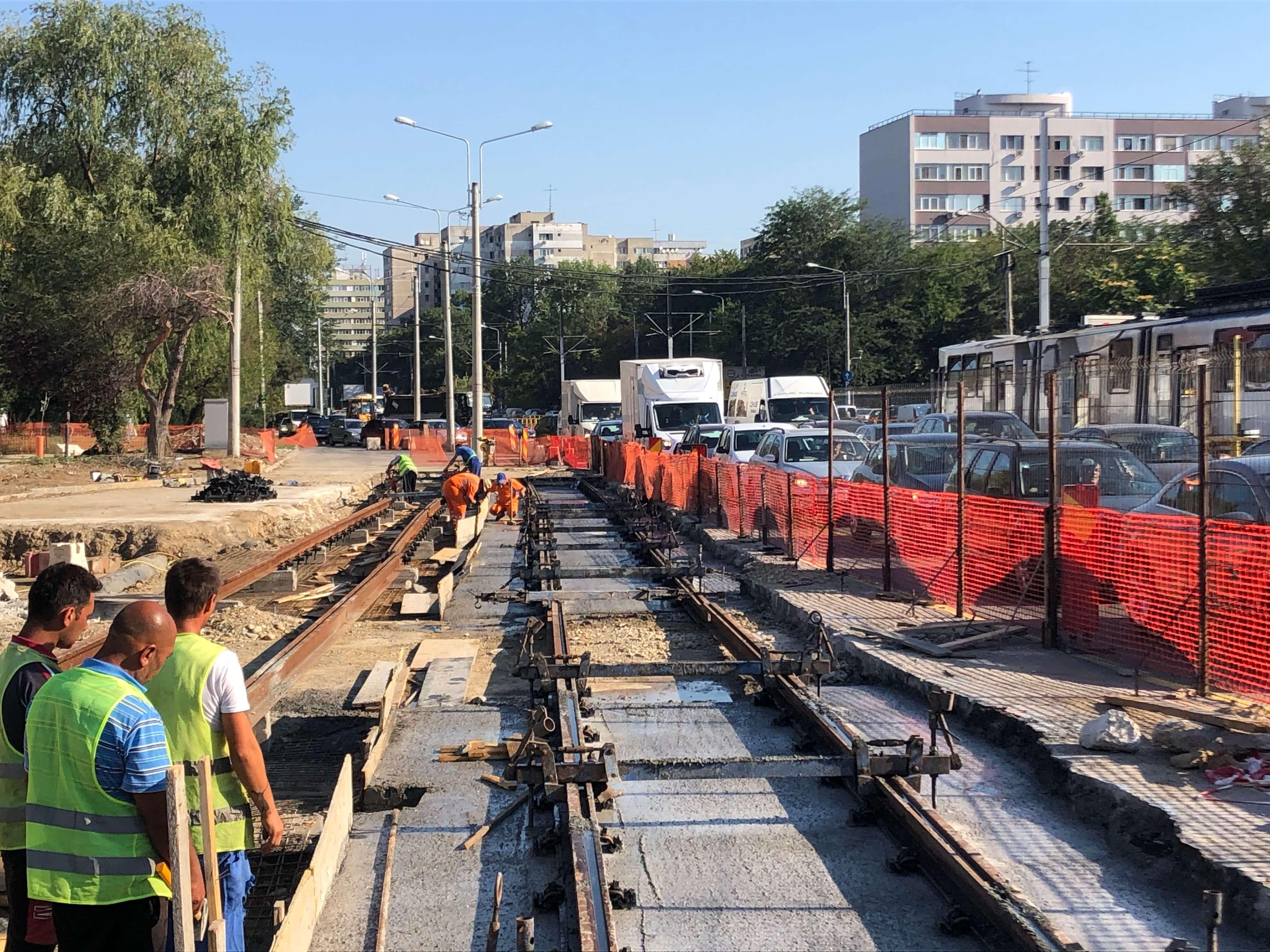 Public transport construction site