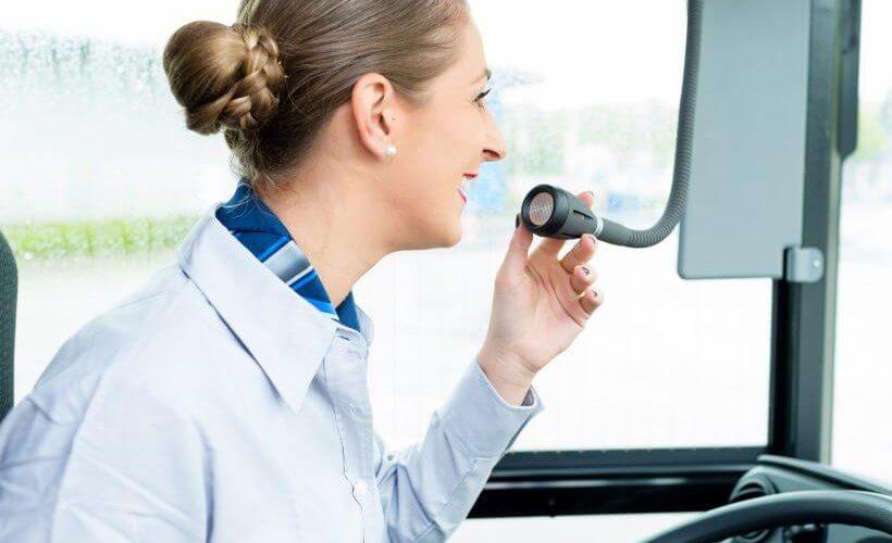 Bus driver woman