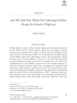 Integrating gender into transport