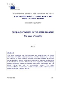 The role of women in the green economy